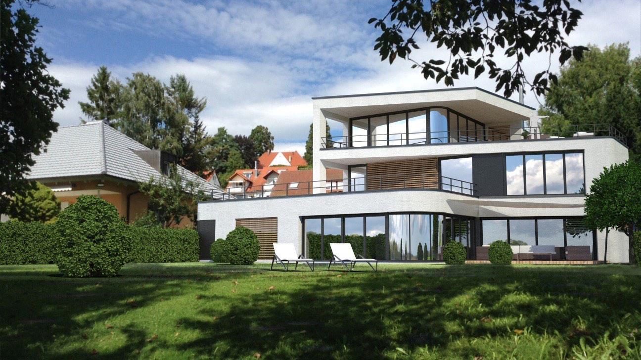 Bauhaus-Villa in 2.Seereihe